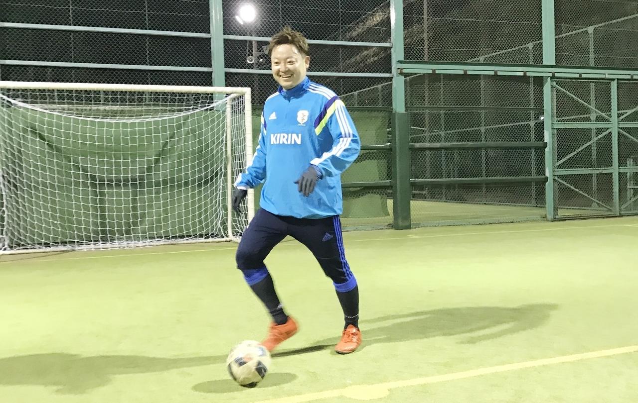 サッカーが趣味で子供たちにも教えています